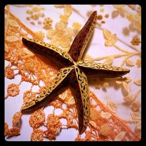 Large Vintage Starfish Brooch